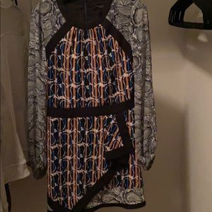 Bcbg Scoop neck work dress silk great material